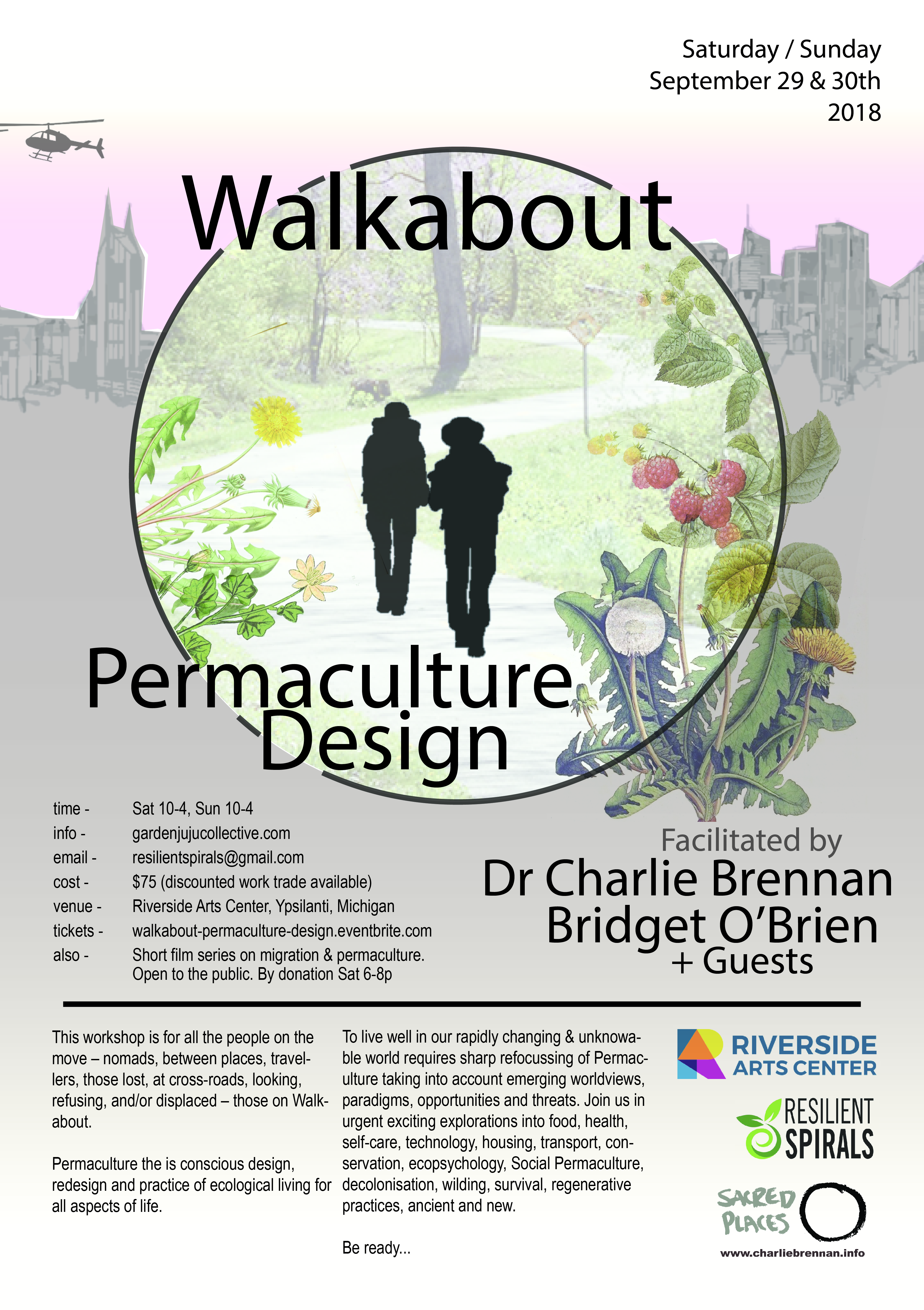 Walkabout Permaculture Design Flyer - MI 2018